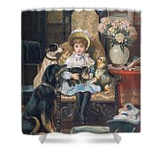 Doddy And Her Pets Shower Curtain