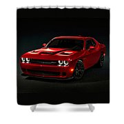 Dodge Challenger S R T Hellcat Shower Curtain