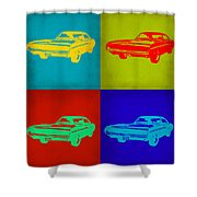Dodge Charger Pop Art 2 Shower Curtain