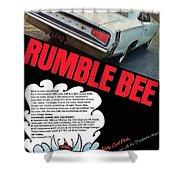 Dodge Coronet Super Bee - Rumble Bee Shower Curtain
