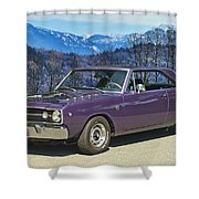 Dodge- Mountain Background Shower Curtain