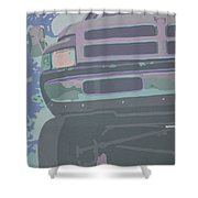 Dodge Ram With Decreased Color Value Shower Curtain