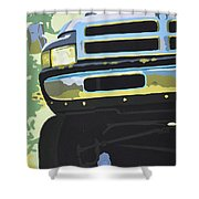 Dodge Ram With Green Hue Shower Curtain