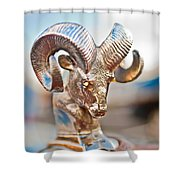 Dodge Ram Hood Ornament 3 Shower Curtain