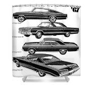 Dodge Rebellion '67 Shower Curtain