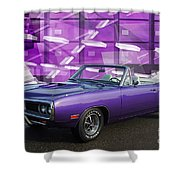 Dodge Rt Purple Abstract Background Shower Curtain