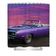 Dodge Rt Purple Sunset Shower Curtain