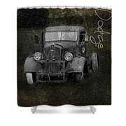 Dodge Take Life By The Horns Shower Curtain