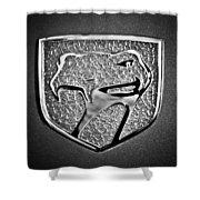 Dodge Viper Emblem -217bw Shower Curtain