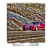 Dodge Viper  V1 Shower Curtain
