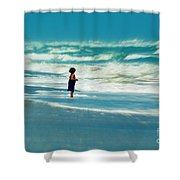 Does The Ocean Ever Stops Shower Curtain