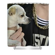 Dog And True Friendship 1 Shower Curtain