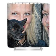 Dog And True Friendship 6 Shower Curtain