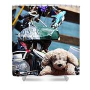Dog Bike Shower Curtain