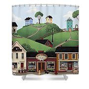 Dog Days Of Summer Shower Curtain by Catherine Holman