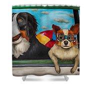 Dog Days Of Summer Edit 3 Shower Curtain