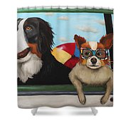 Dog Days Of Summer Shower Curtain