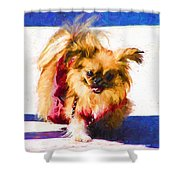 Dog Daze 3 Shower Curtain