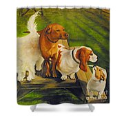 Dog Friends Shower Curtain
