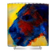 Vincent The Dog Gogh Shower Curtain