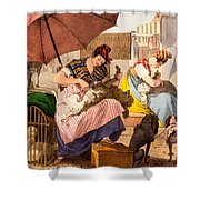 Dog Groomers, 1820 Shower Curtain