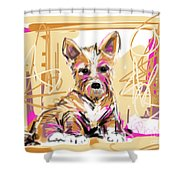 dog I did not make this mess Shower Curtain