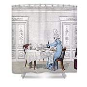 Dog Mania, Plate 106 From Le Bon Genre Shower Curtain by French School