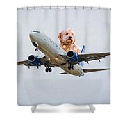 Dog Pilot Shower Curtain