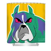 Dog Pop  Shower Curtain