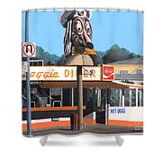 Doggie Diner 1986 Shower Curtain