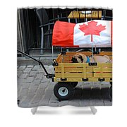 Dog's Life In Canada Shower Curtain