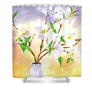 Dogwood In Watercolor Shower Curtain