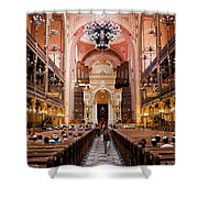 Dohany Street Synagogue In Budapest Shower Curtain