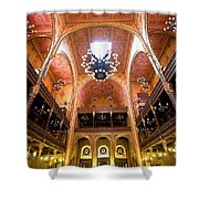Dohany Synagogue In Budapest Shower Curtain by Madeline Ellis