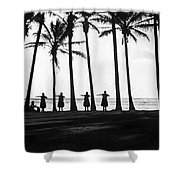 Doing The Hula At Sunset Shower Curtain