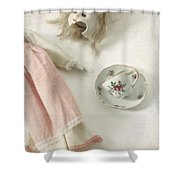 Doll With Tea Cup Shower Curtain