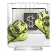 Dollar Gloves-1 Shower Curtain
