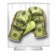 Dollar Gloves-2 Shower Curtain