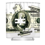 Dollar Puzzle-2 Shower Curtain