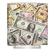 Dollars Background.  Shower Curtain