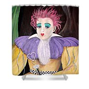 Dollydoll Of Hearts Shower Curtain