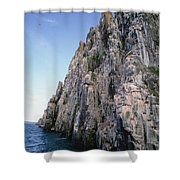 Dolomite Cliff With Guillemot Colony Shower Curtain