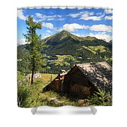 Dolomites - Cordevole Valley Shower Curtain