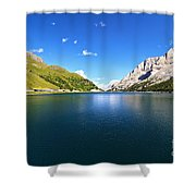 Dolomites - Fedaia Lake  Shower Curtain