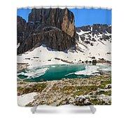Dolomites - Pisciadu' Peak Shower Curtain