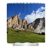 Dolomites In Badia Valley  Shower Curtain