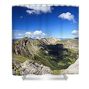 Dolomites Landscape On Summer Shower Curtain