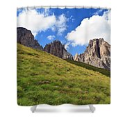 Dolomites On Summer Shower Curtain