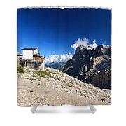 Dolomites -pale San Martino Group Shower Curtain