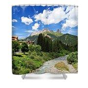 Dolomiti - Avisio Stream Shower Curtain